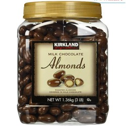 Chocolate hạnh nhân Kirkland Milk Chocolate Almonds 1,36kg