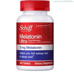 Viên uống trị mất ngủ Schiff Melatonin Ultra 3mg 365 viên