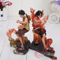 Bộ Mô Hình Ace và Luffy - One Piece Figure
