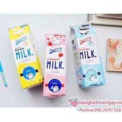 hộp bút hộp sữa đáng yêu