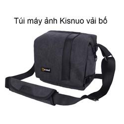 Túi máy ảnh vải bố Kisnuo