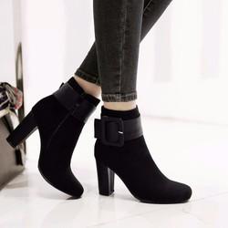 giày boot nữ da lộn cao cấp