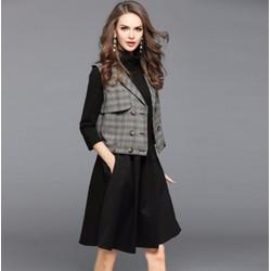 Set áo ghi lê và váy xòe cao cấp - giá 1.450k -T7663