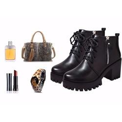 giày boot nữ cổ cao cá tính