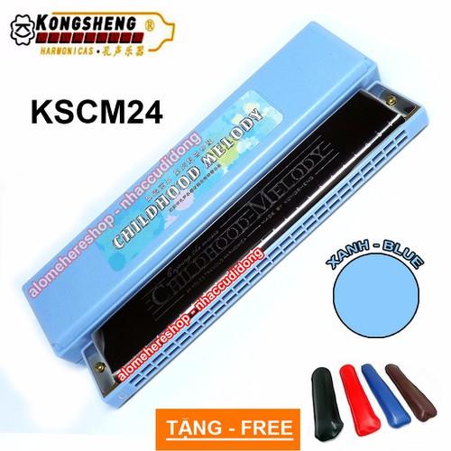 Kèn harmonica tremolo KongSheng Childhood Melody key C Xanh