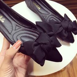 Giày Búp Bê Nơ Lụa