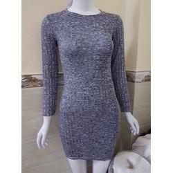 Đầm thun len thu đông, thiết kế dáng ôm, phong cách quyến rũ