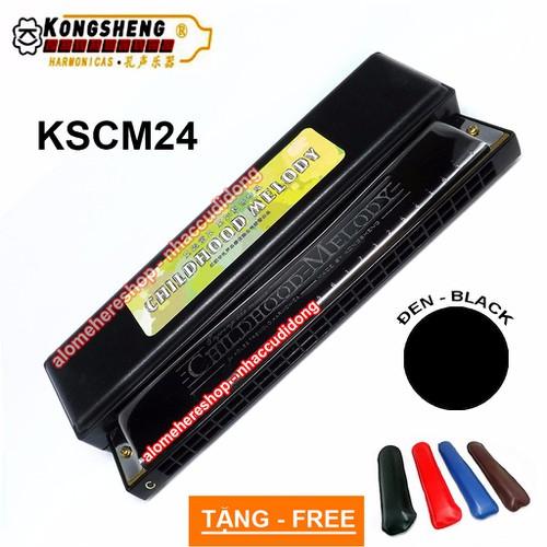 Kèn harmonica tremolo KongSheng Childhood Melody key C Đen
