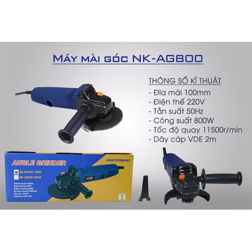 Máy mài góc nikawa nk-ag800 - 16913689 , 7443724 , 15_7443724 , 800000 , May-mai-goc-nikawa-nk-ag800-15_7443724 , sendo.vn , Máy mài góc nikawa nk-ag800