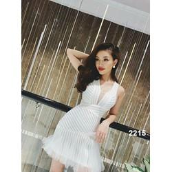 Đầm body ren trắng phối lưới