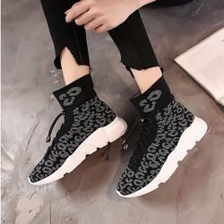 giày boots len đế cao Mã: GH0516 - ĐEN