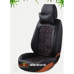 Bao ghế ô tô| Áo ghế da X dùng cho ô tô cao cấp - Đen
