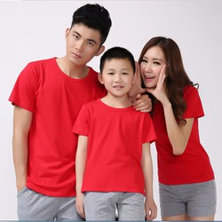 Áo thun trơn màu đỏ form rông 4 chiểu giá si 29k,28k,27k,26k