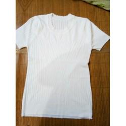 Áo len nữ tay ngắn mặc trong Vest