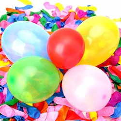 Combo 200 bong bóng dạng tròn và trái tim trang trí sinh nhật,...