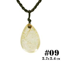 Mặt Dây Chuyền Thạch Anh Tóc Vàng 09