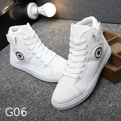 Giày nam trắng cao cổ