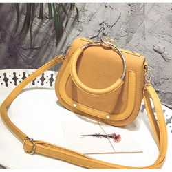 Túi xách da lộn phong cách Hàn Quốc