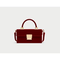 Túi hộp chữ nhật Nhung-hàng xuất dư