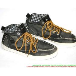 Giày nam cổ cao vải jean phong cách  GTAC18