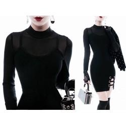 Đầm ôm body thiết kế tay dài pha lưới