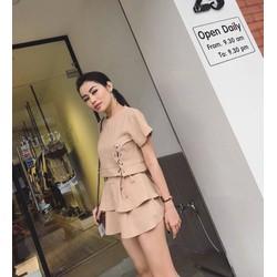 Set áo croptop + quần váy
