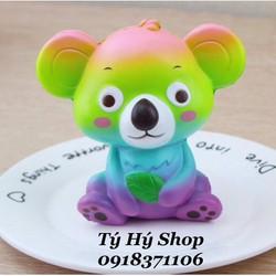 Squishy Koala Sắc Màu 12cm Squishy Gấu Hot