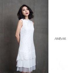 Đầm ren suông AMBAR đuôi dập li cao cấp