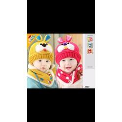 Mũ len kèm khăn quàng cho bé