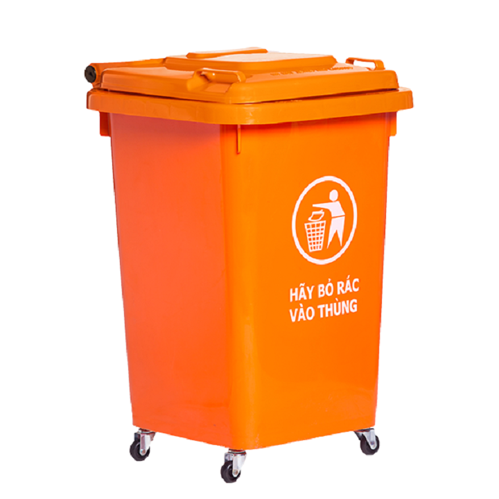 Thùng nhựa đựng rác 60 lít HITA - Có bánh xe 3