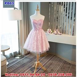 cho thuê đầm phù dâu, váy phù dâu cúp ngực