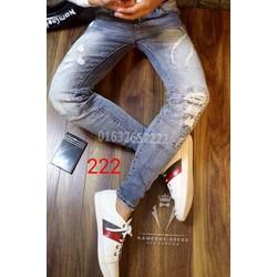 quần bò nam rạc-quần jeans nam ---