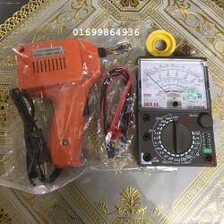 Combo mỏ hàn+đo điện+thiếc nhựa thông 2 đầu hàn