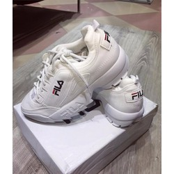 Giày thể thao nữ thời trang độn đế màu trắng