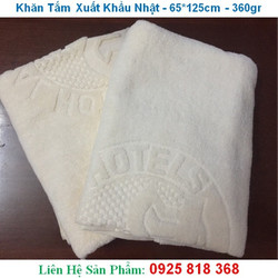 Khăn tắm 65*125cm xuất khẩu nhật Logo Daiwa