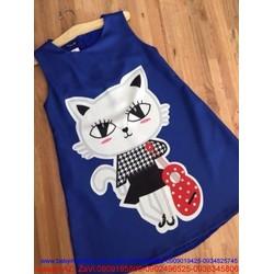 Đầm suông họa tiết mèo và cDSV37