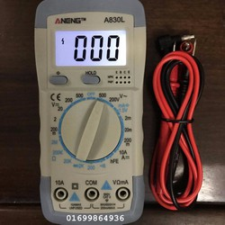 Đồng hồ đo điện A830L tặng pin 9v