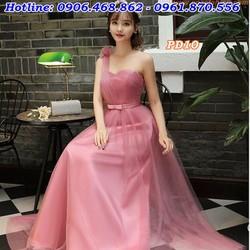 Đầm phù dâu, cho thuê đầm phù dâu lệch vai
