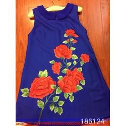 Đầm suông sát nách cành hoa hồng xinh DZ236