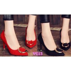 Giày cao gótmũi nhọn đính tagVG13- V145