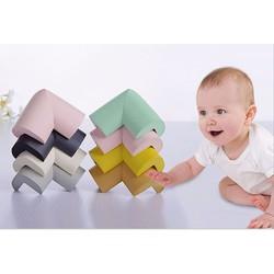 Bộ 4 bọc góc bàn bằng mút an toàn cho trẻ nhỏ có sẵn miếng dán