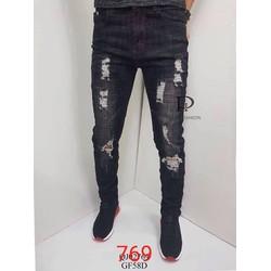 quần bò nam - quần jeans nam cào ---