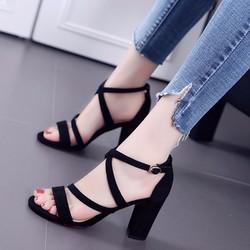 giày cao gót nữ mẫu mới đan chéo cực đẹp