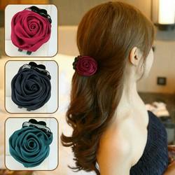 Kẹp tóc hoa hồng