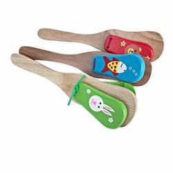 Gõ phách gỗ hình đàn ghi ta đồ chơi cảm thụ âm nhạc