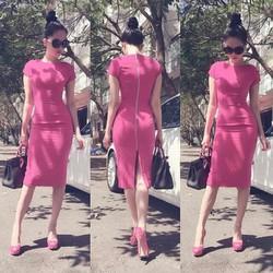 Đầm ôm body kiểu tay con dự tiệc thiết kế đơn giản như Ngọc Trinh