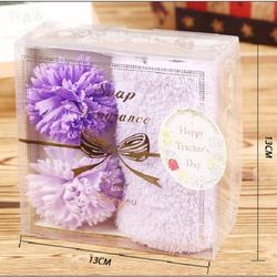 Quà tặng 20-11 hộp soap hoa và khăn tắm