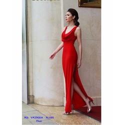 Đầm Dạ Hội Thiết Kế Cổ Đổ Xẻ Tà Hông