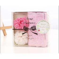 Quà tặng thầy cô 20-11 hộp soap hoa và khăn tắm