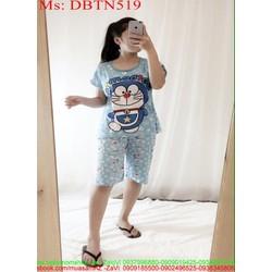 Đồ bộ nữ mặc nhà lửng hình doremon xì teen DBTN519
